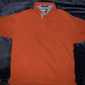 Vintage tommy Hilfiger polo shirt SZ: M Orange